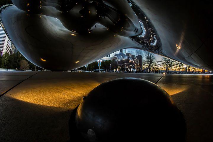 Under Chicago's Cloudgate at dawn - Sven Brogren Photography