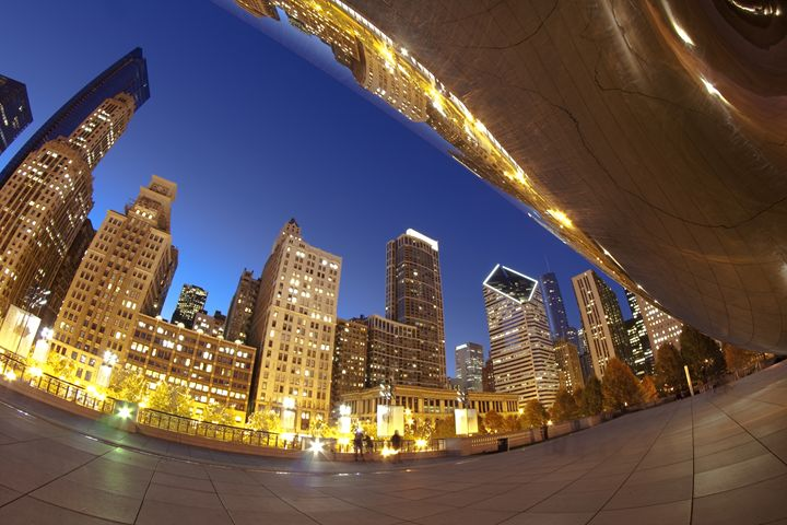 From under Chicago's cloudgate at du - Sven Brogren Photography