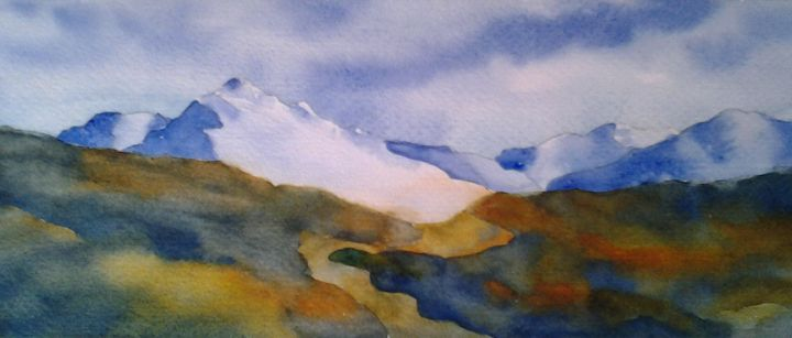 Approaching the Mountains - Roxanne Morris