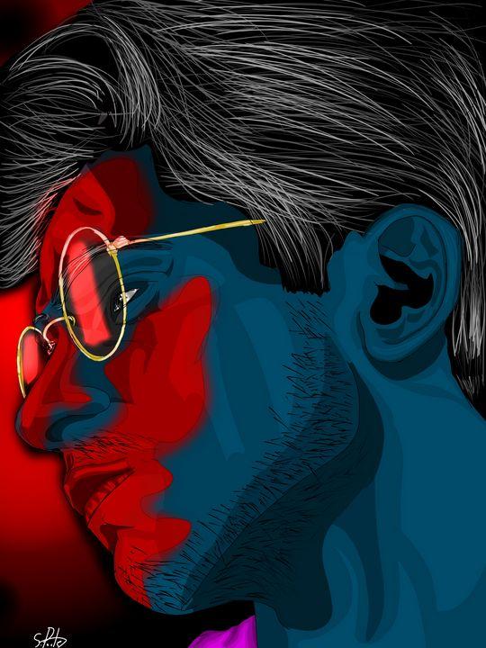 Blue man - Virtual Brush Art Gallery