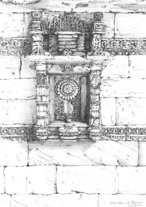 Step well of Adalaj- Wall - Khyati Rajpara