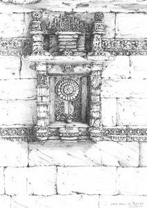 Step well of Adalaj- Wall