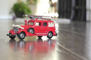 Antique Fire Truck Toy