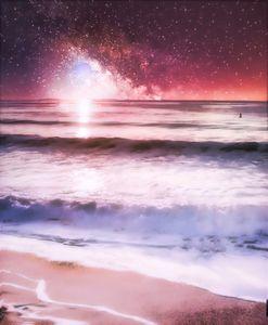 Surf Under a Galaxy Sky - Kristin Von Woodward