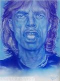 Mick Jagger Airbrushed on canvas
