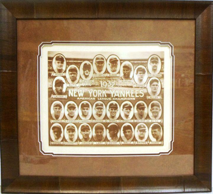 1932 Yankees Team Photo - The Frame Cellar