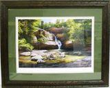 """""""Cedar Falls"""" print on paper"""