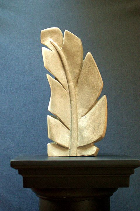 Sandstone Feather sculpture - SaGa