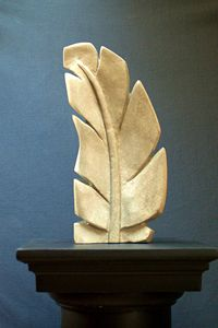 Sandstone Feather sculpture