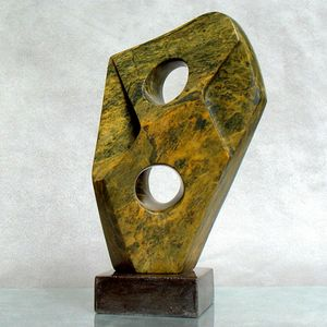 Soapstone abstract sculpture