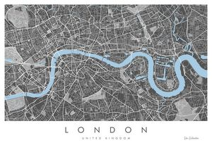 London Map, Fine Art Giclée Print - Art of the Map