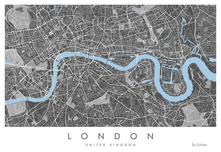 London Map, Fine Art Giclée Print - Art of the Map