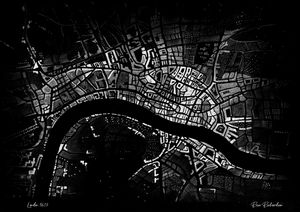 Historical Map of London (1673)