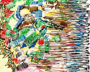 Walking through color lines. - Adriatik Balos