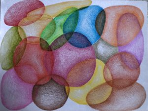Balls of air.Pencildrawing. - Adriatik Balos