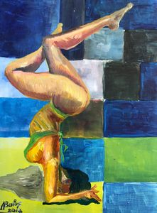 Lady at the beach. - Adriatik Balos
