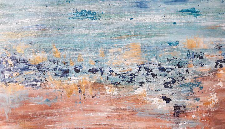 Abstract acrylic seascape - LanaArtPal