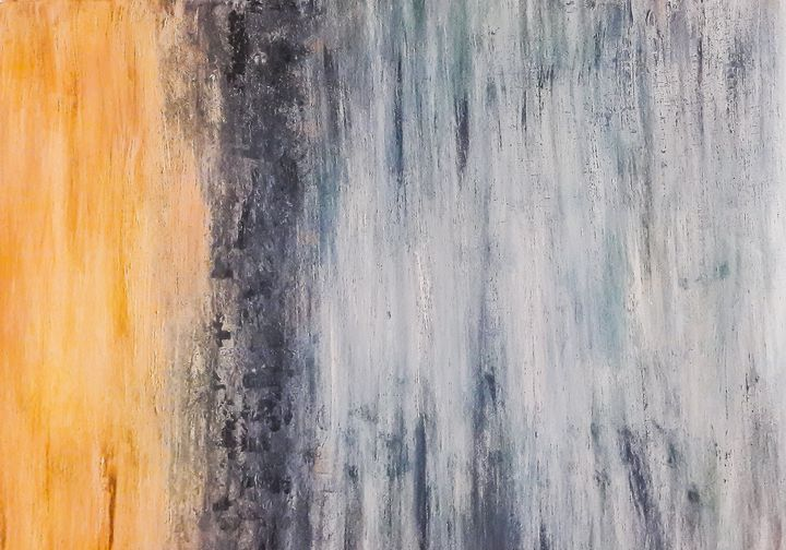 Abstract yellow&blue shades - LanaArtPal