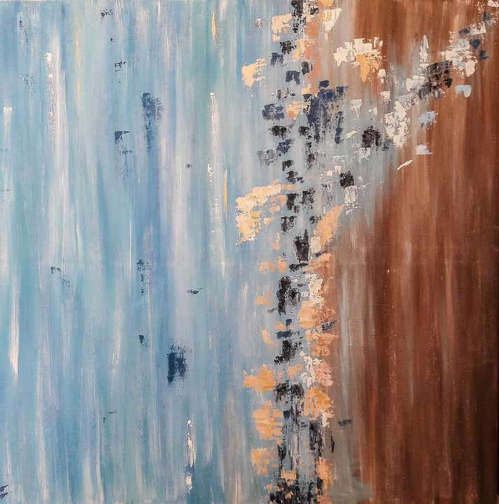 Abstract blue and brown - LanaArtPal