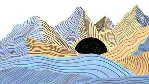 Watercolor Mountain, Animated Dream