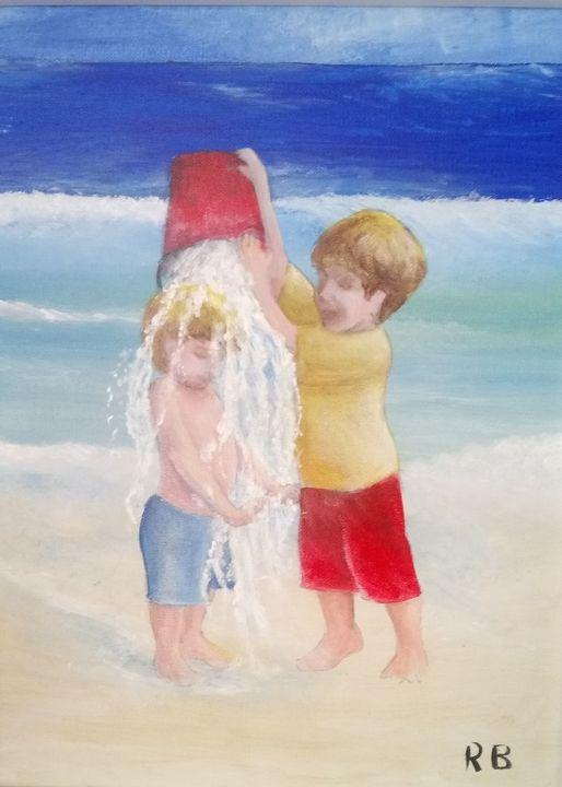 Children at the beach - RB