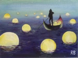 Moonlight boatman
