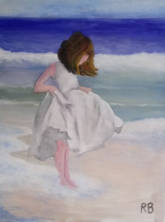 Wet feet at the beach - RB