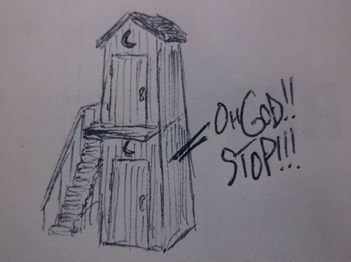 Two-Story Outhouse - K's Pennings