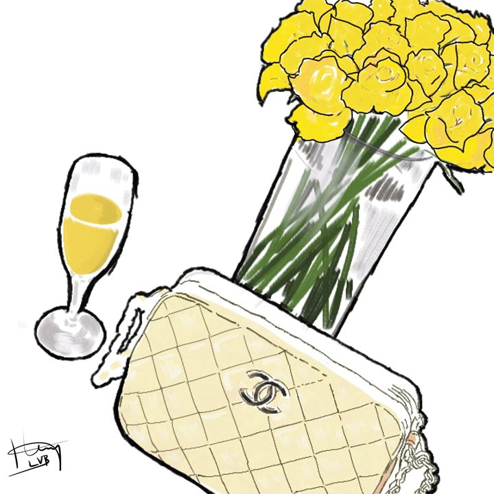 Champagne and Chanel (Custom) - La Vita Bella Designs
