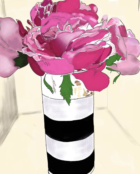 Rose and Stripes - La Vita Bella Designs
