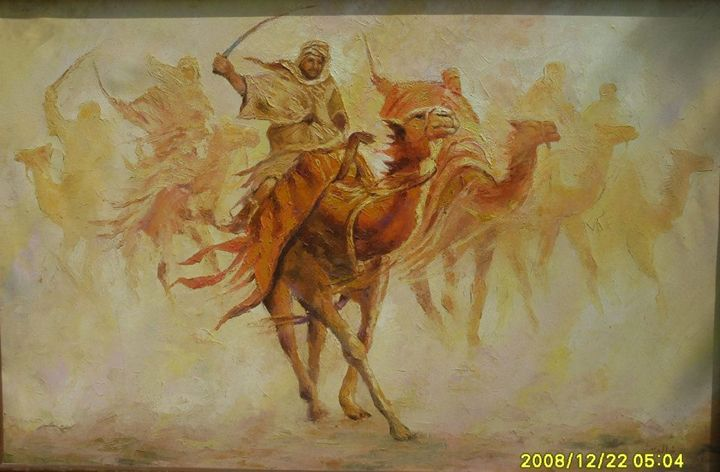 camel caravan - Altaous Art Studio