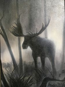 Лось в тумане