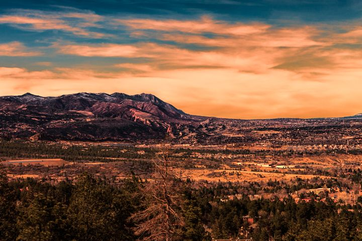 Sunset in the Mountains - Mike Sinko Photography