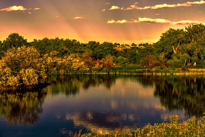 Sunset on the River - Mike Sinko Photography