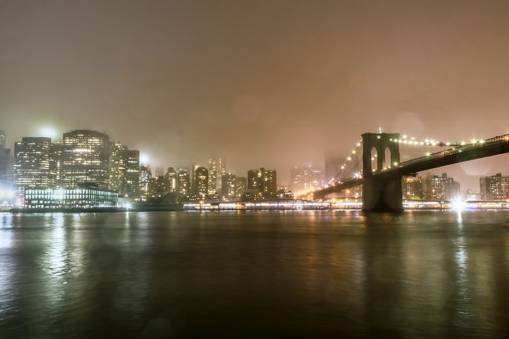 Rainy Night NYC Skyline - Mike Sinko Photography