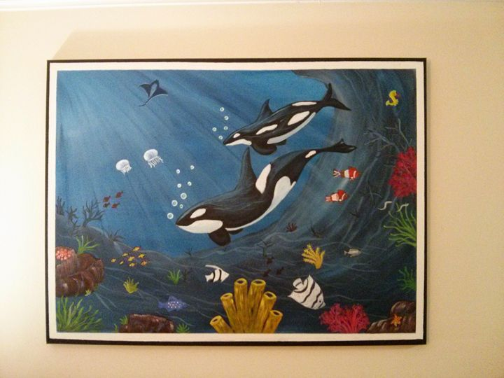Under the  Sea Painting. - Appu's Art