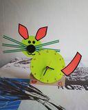 Original handmade paper clock