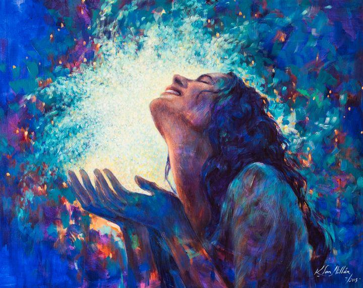 Blessed: Acrylic on canvas, 2009 - KatiaSanMillan.com