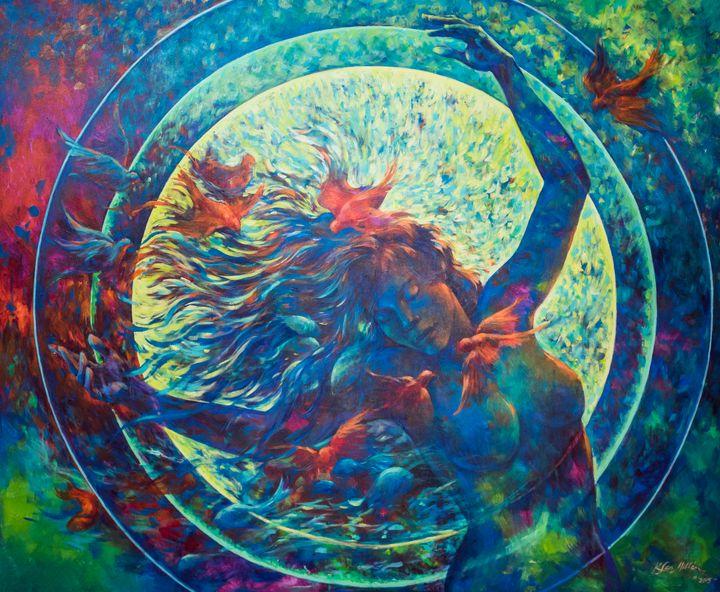 Dance of life: Acrylic on canvas, 20 - KatiaSanMillan.com