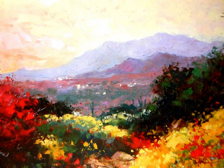 Misty Morning lll - Paintings by Frederick Lyle Thrauthemburg Morris