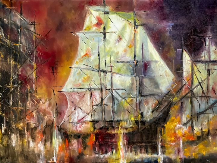 Storms at sea - Paintings by Frederick Lyle Thrauthemburg Morris