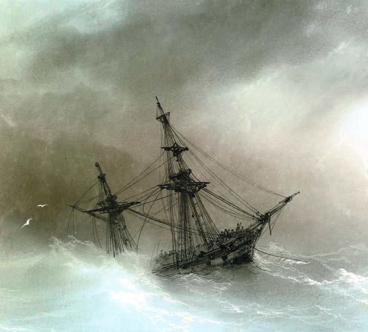 THe Great Storm - Paintings by Frederick Lyle Thrauthemburg Morris