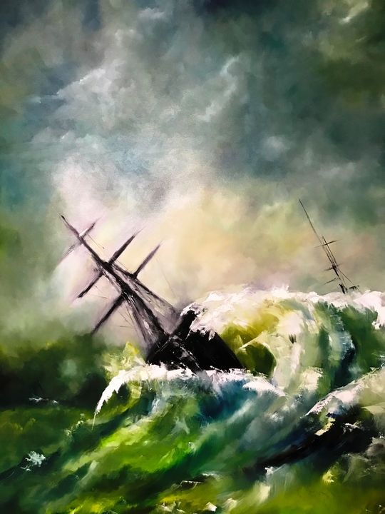 Tempist Sea II - Paintings by Frederick Lyle Thrauthemburg Morris