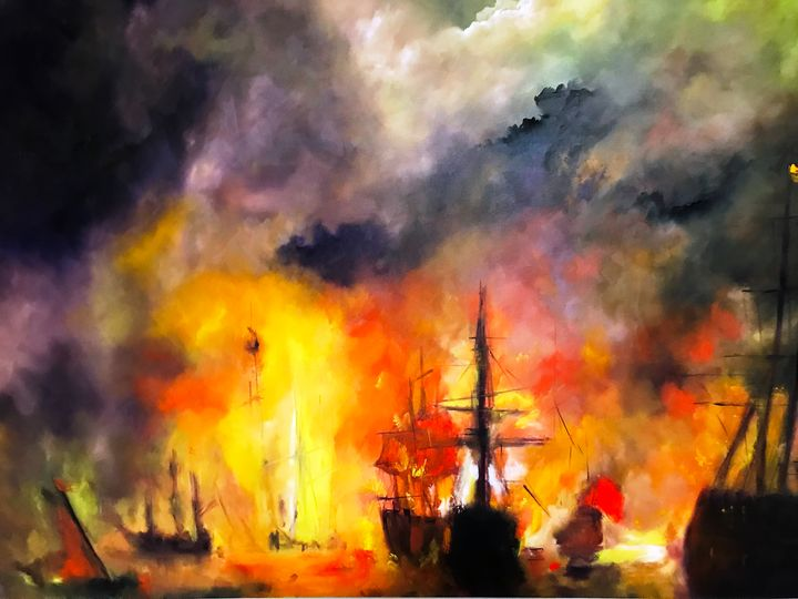 The Battle of Memphis - Paintings by Frederick Lyle Thrauthemburg Morris