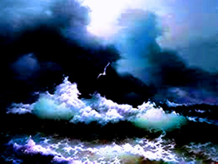 Waves - Paintings by Frederick Lyle Thrauthemburg Morris