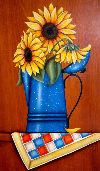 """""""Sunflowers"""" By: Randa Hitchner - Somewhere In Time Paint Mixers"""