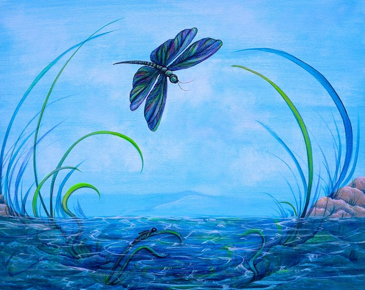 """Dragonfly Transformation"" - Somewhere In Time Paint Mixers"