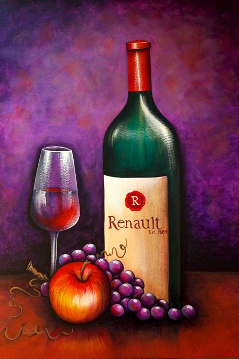 Wine and Fruit - Somewhere In Time Paint Mixers