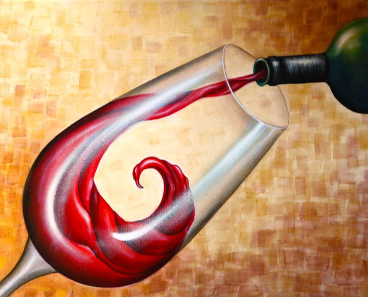 Wine Is Divine - Somewhere In Time Paint Mixers