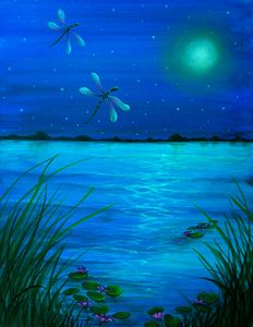 """Dragonflies flight by Moonlight"""